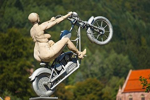 Sculpture by Peter Lenk, Hirsau, Black Forest, Baden-Wuerttemberg, Germany, Europe
