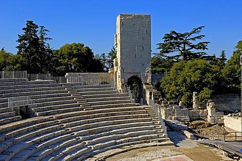 Roman Theatre, Arles, Bouches du Rhone, Provence, France, Europe