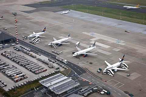 Duesseldorf International Airport, Duesseldorf, North Rhine-Westphalia, Germany, Europe
