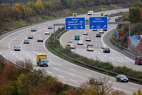 A44 motorway, near Duesseldorf, Airport Highway, junction to the A52, junction Duesseldorf-Nord, Duesseldorf, North Rhine-Westphalia, Germany, Europe