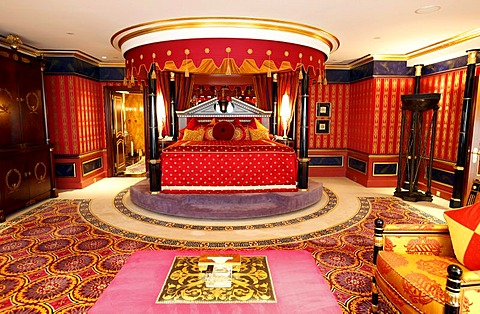 Presidential suite, deluxe suite of the Burj Al Arab luxury hotel, Dubai, United Arab Emirates, Middle East - 832-186734
