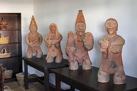 Clay figures in the Casa Museo del Campesino, Lanzarote, Canary Islands, Spain, Europe