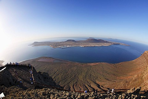 La Graciosa Island, view from Mirador del Rio, Lanzarote, Canary Islands, Spain, Europe