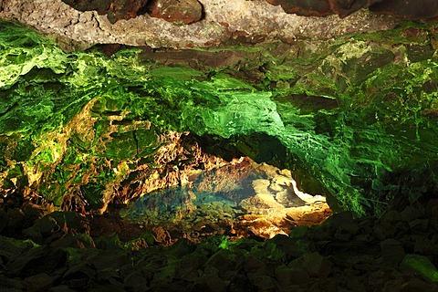 Atlantis Tunnel Cave, Jameos del Agua, designed by Cesar Manrique, Lanzarote, Canary Islands, Spain, Europe