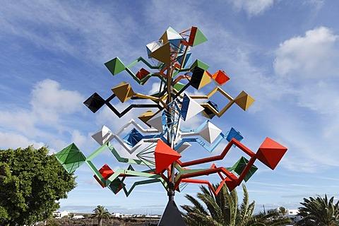 Wind sculpture in Fundacion Cesar Manrique, Teguise, Lanzarote, Canary Islands, Spain, Europe