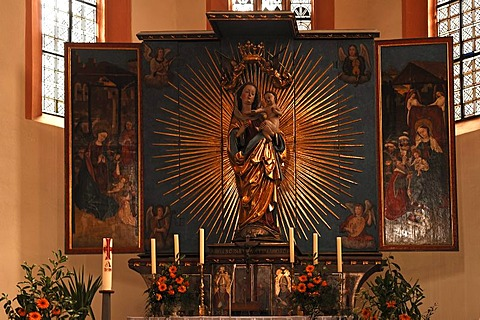 Marienaltar altar, 15th to 16th century, in the Marienkirche church, Velden an der Pegnitz, Middle Franconia, Bavaria, Germany, Europe