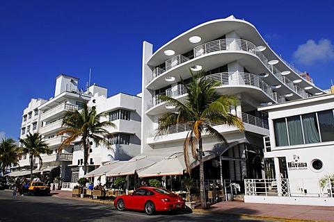 Ocean Drive, Miami South Beach, Art Deco district, Florida, USA