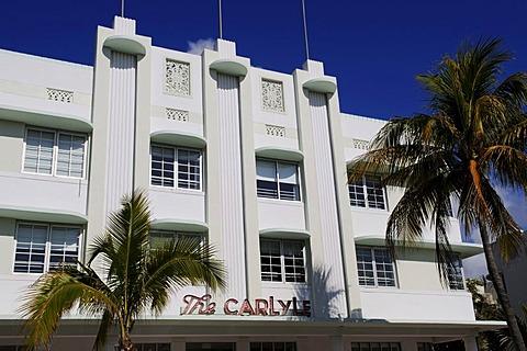 The Carlyle Hotel, Ocean Drive, Miami South Beach, Art Deco district, Florida, USA