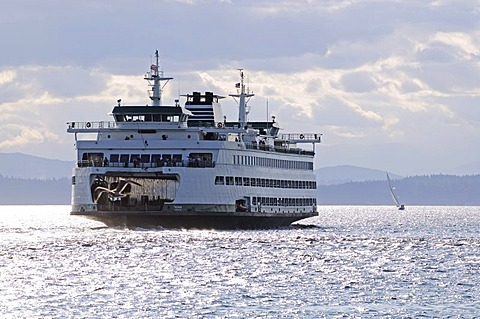 Puget Sound, ferries, Seattle, Washington, USA