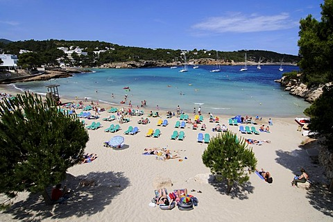 Cala S'Arenal Gran, Portinatx, Ibiza, Pine Islands, Balearic Islands, Spain, Europe