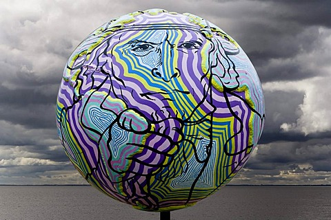 Globe sculpture, global warming