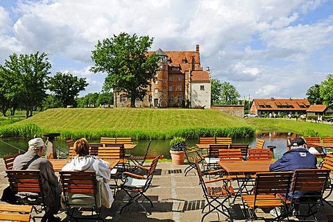 Schloss Ulrichshusen castle of the family von Maltzahn, Mecklenburg-Western Pomerania, Germany, Europe
