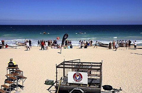 Surf Life Savers Trailer on Scarborough Beach, Perth, Western Australia, Australia