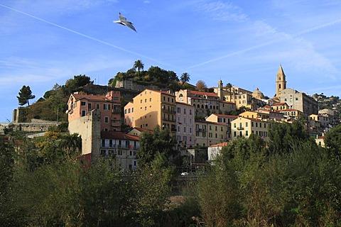 Historic town centre of Ventimiglia, province of Imperia, Liguria region, Riviera dei Fiori, Mediterranean Sea, Italy, Europe