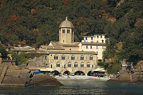 San Fruttuoso di Capodimonte Benedictine abbey, Camogli community, Liguria, Italy, Europe