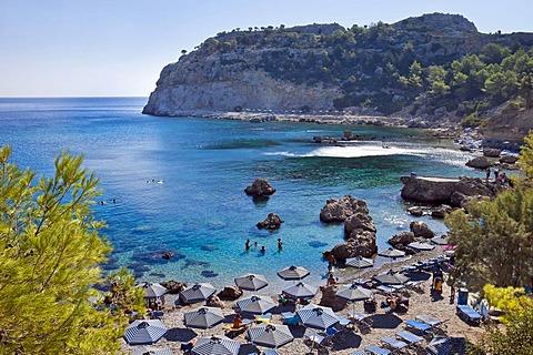 Anthony Quinn Bay, Rhodes island, east coast, Greece, Aegean Sea, Southern Europe, Europe