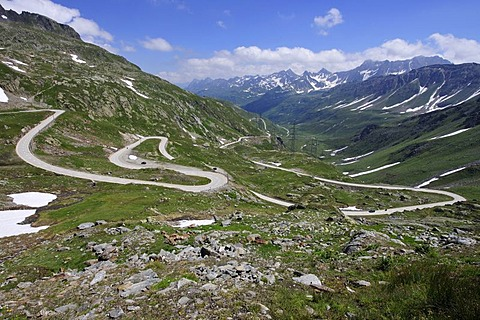 Nufenen Pass Road, Canton of Ticino, Switzerland, Europe