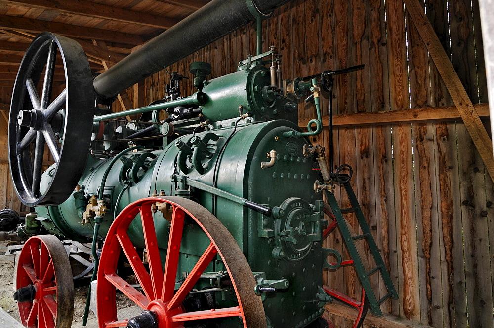 Steam engine, Glentleiten farming museum, Bavaria, Germany, Europe