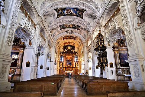 Kloster Benediktbeuern monastery, Bavaria, Germany, Europe