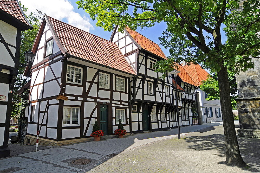 Half-timbered houses, historic old town, Werne, Kreis Unna district, North Rhine-Westphalia, Germany, Europe