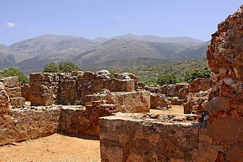 Malia Palace, archaeological excavation site, Minoan palace, Heraklion, Crete, Greece, Europe
