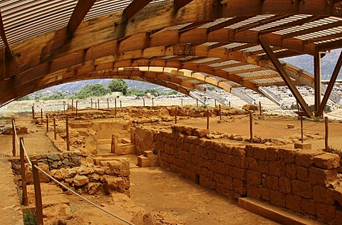 Malia palace, excavation site, Minoan Palace, Heraklion, Crete, Greece, Europe