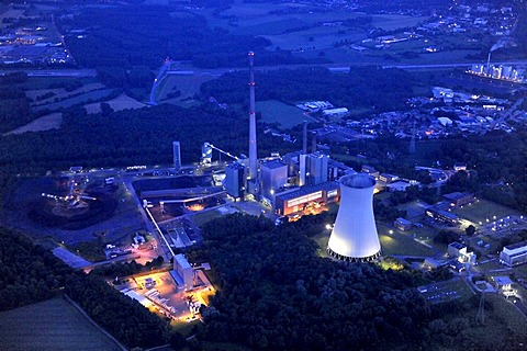 Aerial view, Lippholthausen, Luenen, coal power plant, Ruhrgebiet region, North Rhine-Westphalia, Germany, Europe