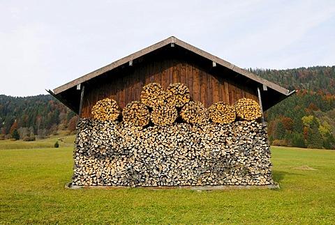 Geroldsee lake, Wagenbruechsee lake, Karwendelgebirge mountains, Werdenfelser Land region, Upper Bavaria, Bavaria, Germany, Europe