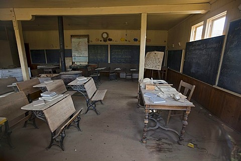School, Bodie State Park, ghost town, mining town, Sierra Nevada Range, Mono County, California, USA