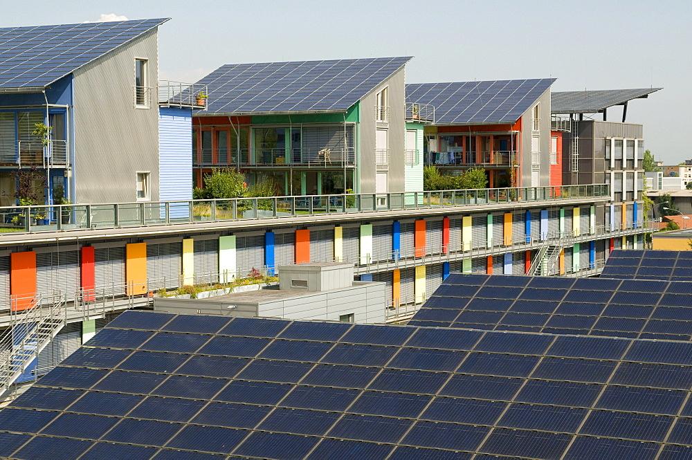Solar village, Vauban, Freiburg, Baden-Wuerttemberg, Germany, Europe - 832-196527