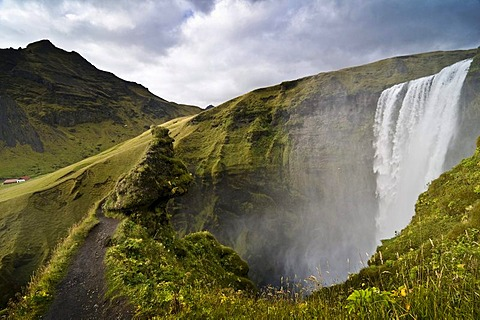 Skogarfoss waterfalls, Iceland, Europe