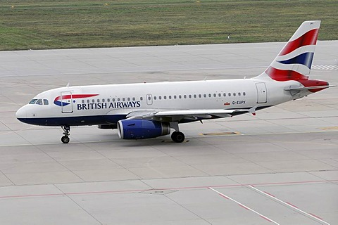 G-EUPX, British Airways Airbus A319-131, Stuttgart Airport, Baden-Wuerttemberg, Germany, Europe