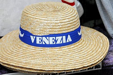 Gondolier hat, souvenir, inner city, Venice, Veneto, Italy, Europe - 832-197456