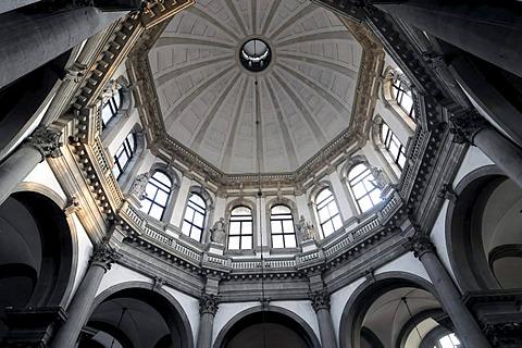 Detail, interior, Church of Santa Maria della Salute, Venice, Veneto, Italy, Europe