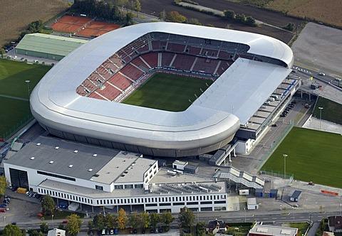 Woerthersee Stadium, Hypo Group Arena, aerial view, Klagenfurt, Carinthia, Austria, Europe