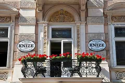 Balcony, Graben street, Vienna, Austria, Europe