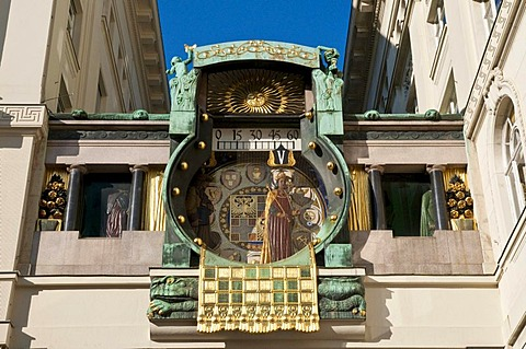 Anker clock, art nouveau, Vienna, Austria, Europe