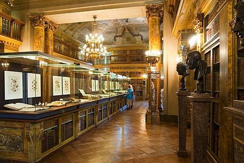 Library, Palais Liechtenstein city palace, Vienna, Austria, Europe