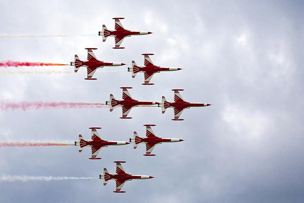 Aerobatics team, Turkish Stars, Northrop NF-5A Freedom Fighter B, Turkey, Airpower 2009 in Zeltweg, Styria, Austria, Europe
