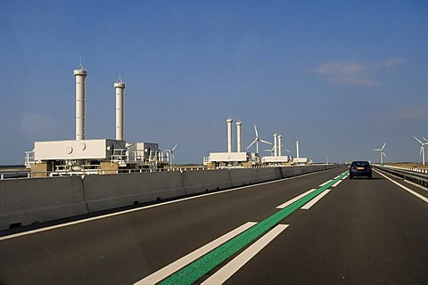 Storm surge barrier, Delta Works, Zeeland, Holland, Netherlands, Europe
