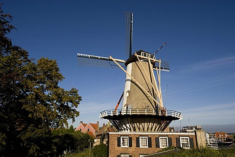 Windmill, Willemstad, North Brabant, Holland, Netherlands, Europe