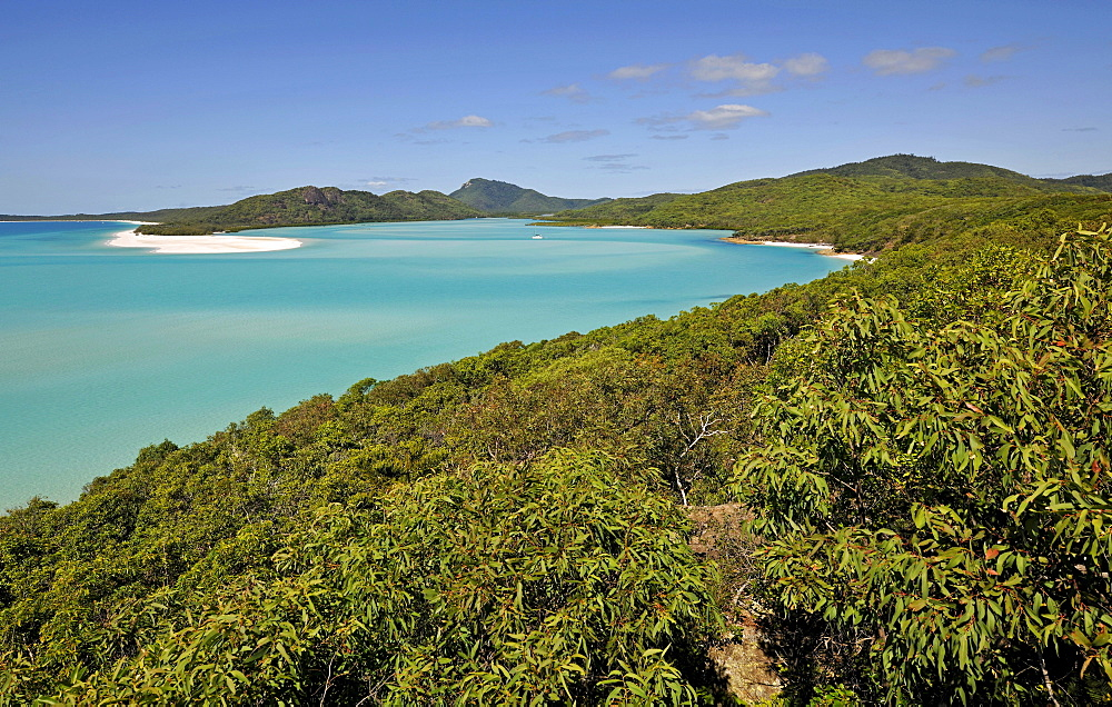 View from Hill Inlet on Whitehaven Beach, Whitsunday Island, Whitsunday Islands National Park, Queensland, Australia