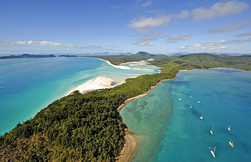 Aerial view of Whitehaven Beach, Whitsunday Island, Whitsunday Islands National Park, Queensland, Australia