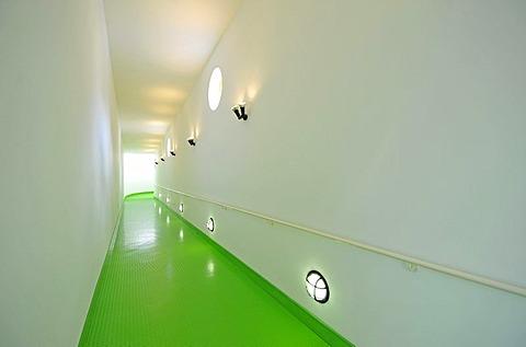 Interior, ramp, New State Gallery, Stuttgart, Baden-Wuerttemberg, Germany, Europe