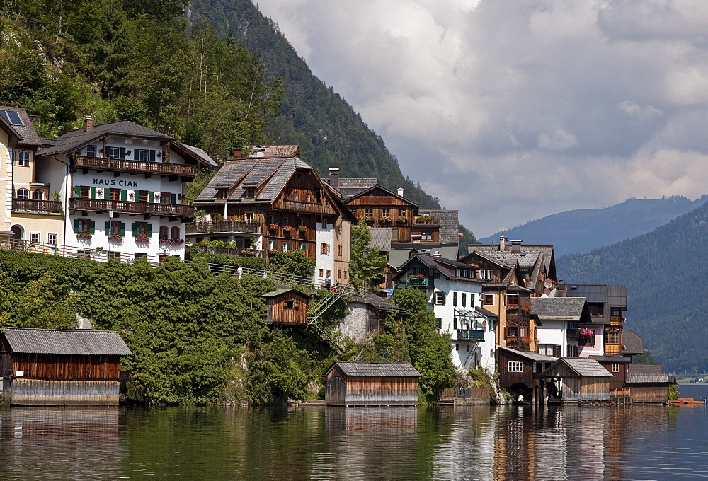 Hallstatt in the Ausseerland region, Styria, Austria, Europe