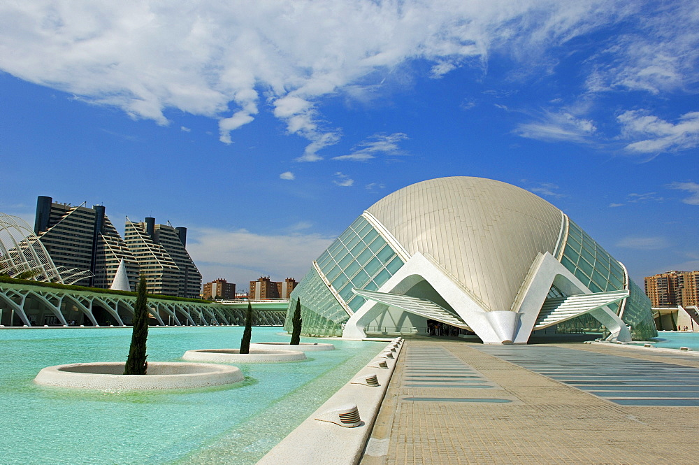 L'Hemisferic, by S. Calatrava, City of Arts and Sciences, Comunidad Valenciana, Valencia, Spain, Europe