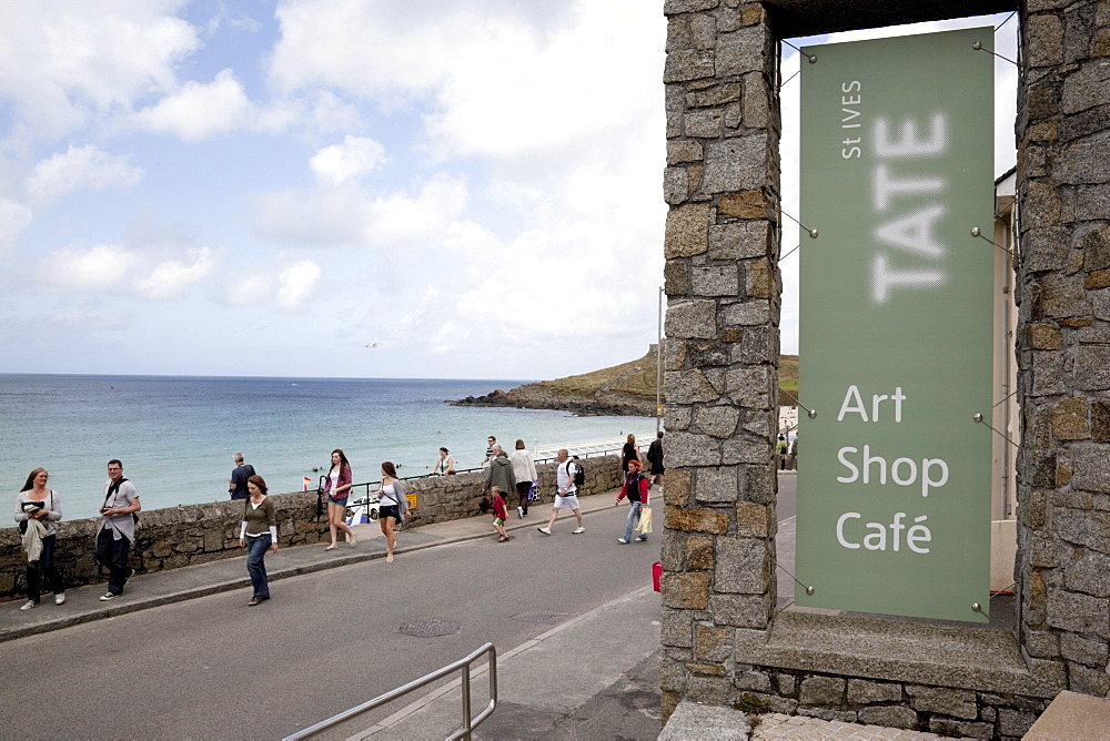 Tate Gallery, Porthmeor Beach, St. Ives, Cornwall, England, United Kingdom, Europe