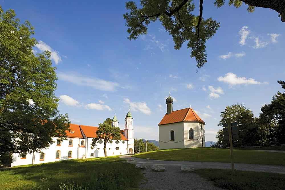 Holy Cross Church on Kalvarienberg, Calvary Hill, Bad Toelz, Upper Bavaria, Bavaria, Germany, Europe