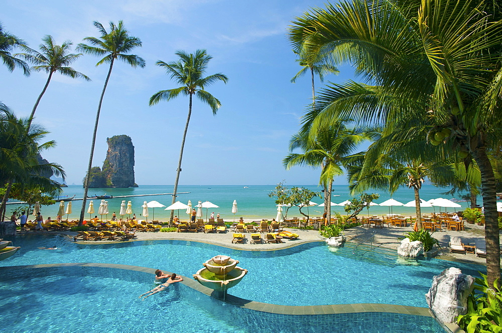 Pool of the Centara Resort, Krabi, Thailand, Asia