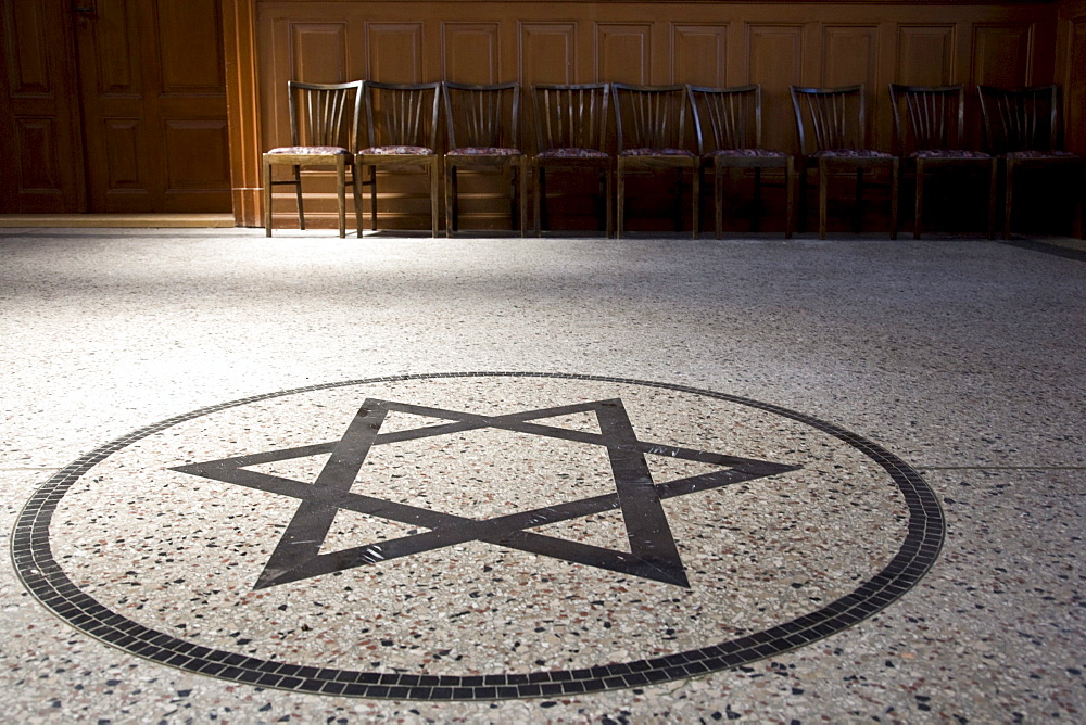 Star of David in a synagogue